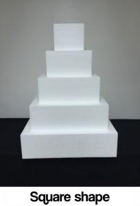 square shape dummy cake